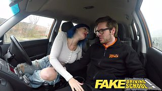 Fake driving school, Driving school, Car blowjob, Driving, Pussy cum, School anal