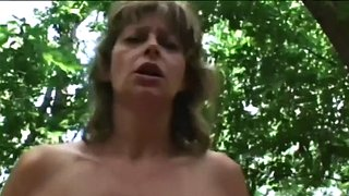 Forest, Mature granny, Mature outdoor, Outdoor granny, Shaved granny, Granny outdoor