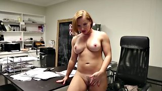 Office, Tease, Mature handjob, Busty mature, Busty pov, Pov mature