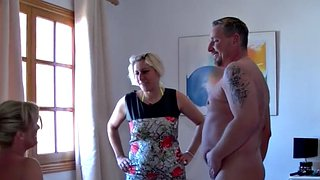 Family, Granny, Teresa, Family threesome, German mature, German milf