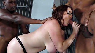 Jail, Black mom, Ebony mom, Busty mom, Maggie green, Ebony mature