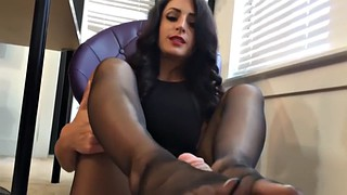 Office, Ebony feet, Pantyhose feet, Office feet, Ebony pantyhose, Black pantyhose