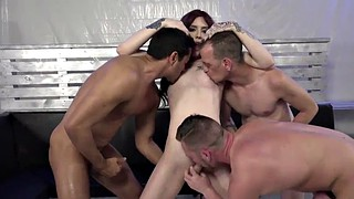 Shemale gangbang, Annabelle, Lane, Shemale group, Gangbanged, Shemale pornstar