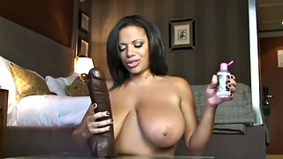 Oil solo, Black oil, Dildo titfuck, Oil dildo, Oiled tits, Oiled ebony