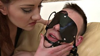 Slave, Pegging, Blindfold, Blindfolded, Sex slave, Peg