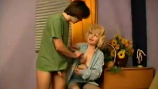 Mom help son, Mom helps son, Mom help, Mom helps, Jerking, Helping mom