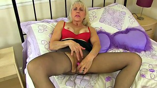 Amy, British granny, British mature, Mature pantyhose, Mature nylon, Pantyhose fetish