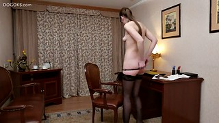 Office, Anal dildo, Hard sex, Office sex, Close, Anal toys