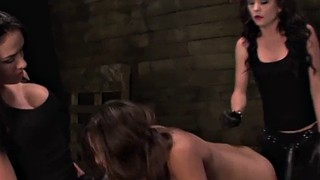 Strapon, Rough sex, Bondage squirt, Strapon bondage, Pee sex, Rough strapon