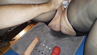 Dildo, Edging, Edge, Wife dildo, German bdsm, Tip