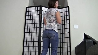 Jeans, Tight jeans, Skin, Jeans masturbation, Femdom jerking, Tight cock