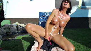 Milf webcam, Lush, Backyard