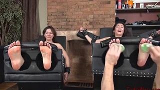 Tickling, Tickle, Sexy feet, Stocking feet, Tickling feet, Double penetrated