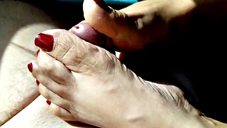 Footjob, Mature feet, Mature latina, Latina mature, Latina feet, Mature footjob