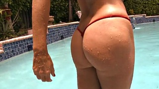 Pool, Wife mom, Cougar mom, Wifes mom, Mom wife, Wife mature