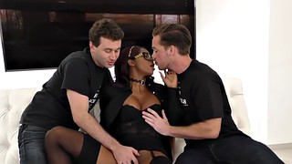 Lingerie, Ebony threesome, Skank, Black threesomes, Jizzy