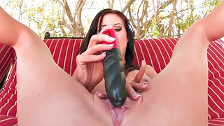 Dildo, Tits out, Solo outdoor, Masturbation girl, Outdoor dildo, Solo big tit
