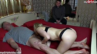 Wife, Cum eating, Cleaning, Cum eating cuckold, Wife cuckold, Cuckold clean