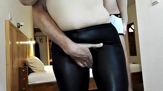Grope, Groped, Groping, Big ass milf, Groping ass, Leather ass