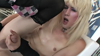 Blonde, Breast, Tiny anal, Jerking off, Big ass tranny, Breasts