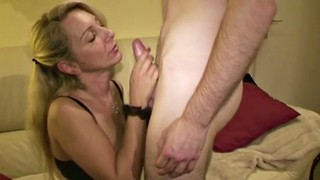 Granny, German, Young boy, Big tits, Seducing, Teen boy