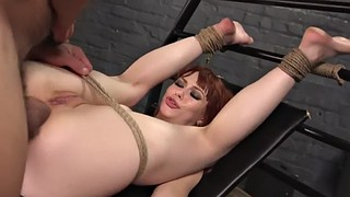 Rough, Rough anal, Sub, Anal rough, Buttfuck, Redhead bondage