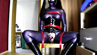 Electro, Milking, Milked, Gay latex, Latex doll, Gay milking