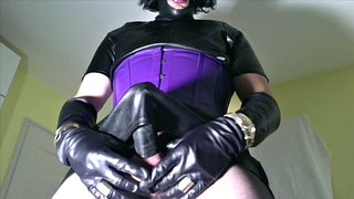 Leather, Crossdresser, Leather handjob, Gay leather, Leather fetish, Gay cumshots