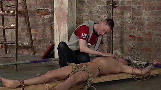 Tied, Bondage blowjob, Bondage squirt, Bdsm squirt, Tied blowjob, Cold