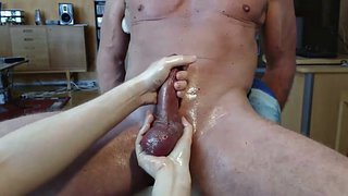 Cbt, Milking, Edge, Edging handjob, Cock milking, Hung