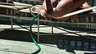 Enema, Garden, Enemas, Gardener, Hose, Gay outdoor