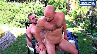 Big cock, Nipple sucking, Outside, Nipple suck, Pierced nipples, Hairy hd